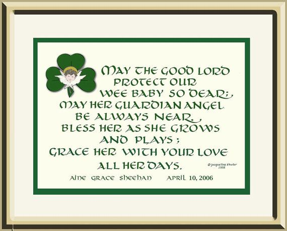 Personalized baby gift original irish baby blessing composed and personalized baby gift original irish baby blessing composed and designed by authorartist negle Choice Image