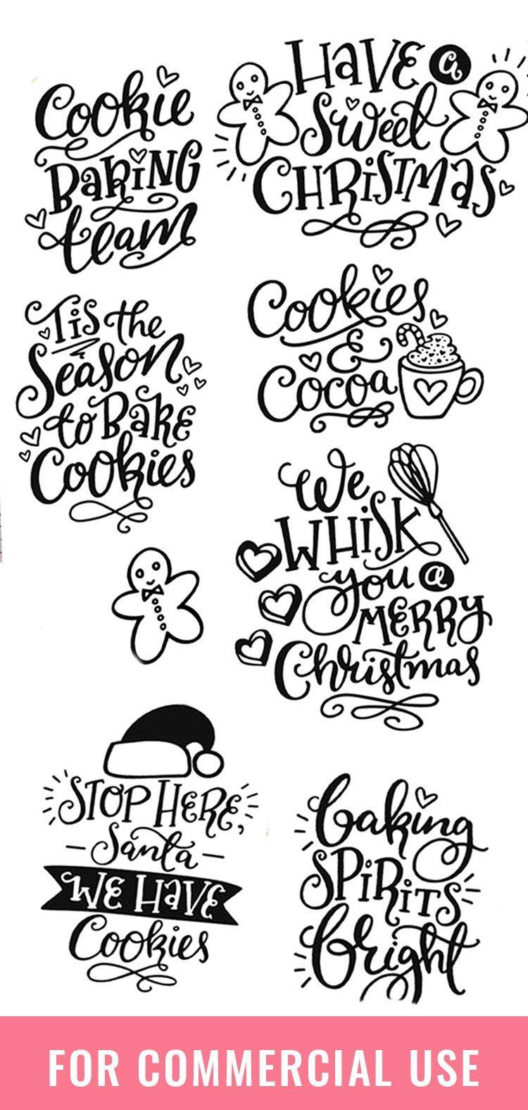 Christmas Baking Quotes : christmas, baking, quotes, Christmas, Baking, Bundle!, Holiday, Quote, Designs, (356073), Lettered, Design, Bundles, Quotes,, Lettering