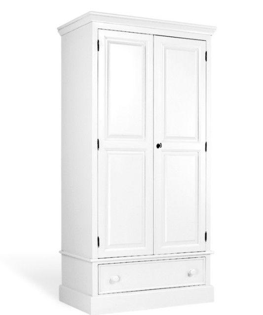weißer Massivholz Kleiderschrank Landhausstil Landhaus
