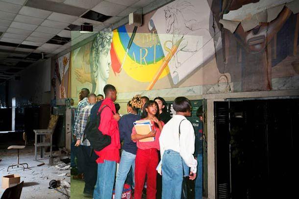 Abandoned school in Detroit – Then and Now, 31 Photographies du passé rencontrent le présent
