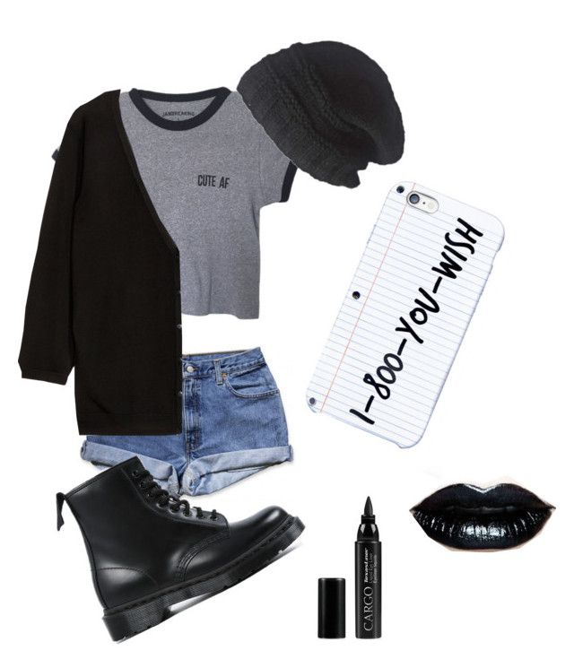 Trust me I'm not goth by skylarrenee on Polyvore featuring polyvore, fashion, style, H&M, Dr. Martens, Laundromat and CARGO
