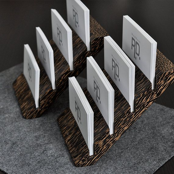 Multiple Business Card Holder Tier By Woodworksrd