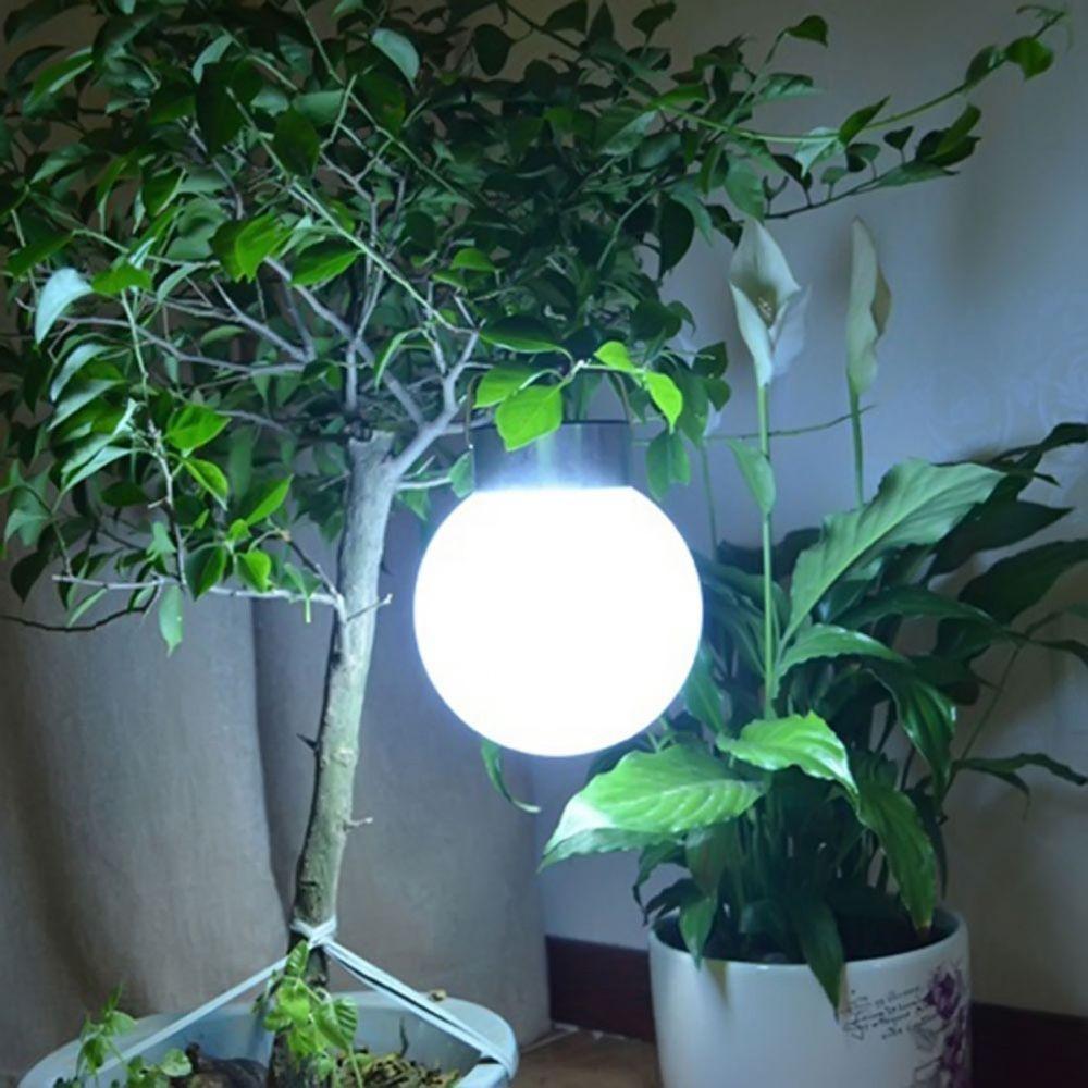 Solar Led Hanging Light Stainless Steel Ball Lamp Outdoor Lighting Garden New Unbranded Modern