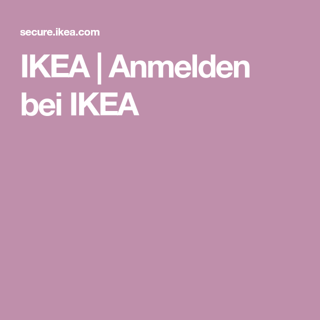 Ikea Anmelden