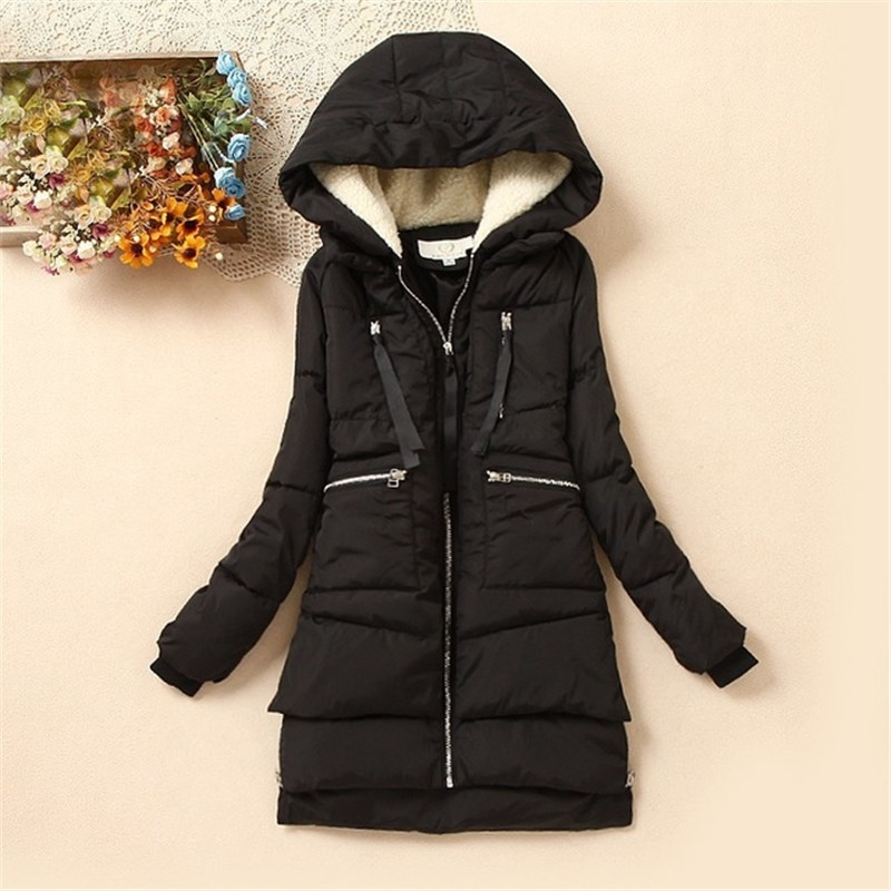 (37.26$)  Watch more here - http://aicsg.worlditems.win/all/product.php?id=2054304047 - 2017 Brand Maxi Winter Coat Wadded Cotton Winter Jacket Women Parka Military Coats Hood Army Green Black Outwear For Women DM013