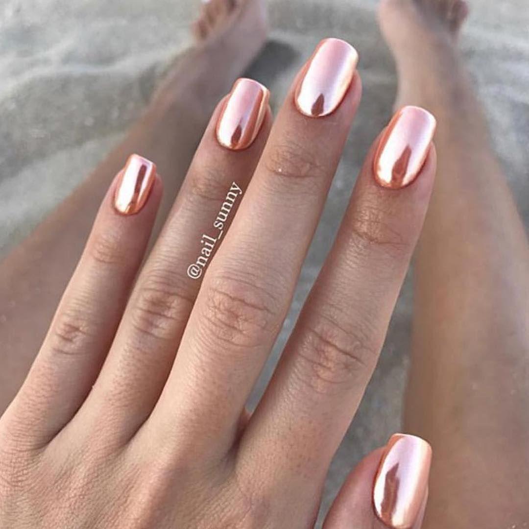 Unghie Oro Rosa Le Manicure Rose Gold Più Belle A Cui Ispirarsi