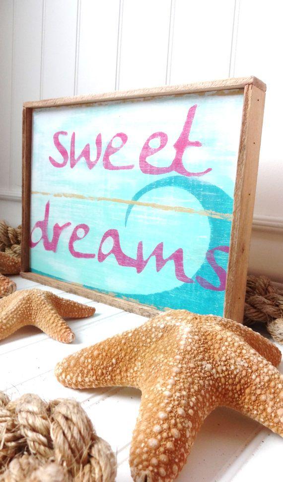 Baby Nash S Vintage Nautical Nursery: Baby Bye The Sea Sweet Dreams Beach Sign By BabyByeTheSea