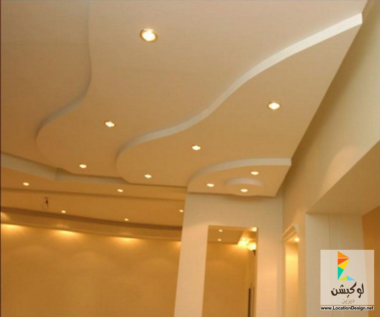 فورم جبس اسقف بسيطة Ceiling Design False Ceiling Bathroom Mirror