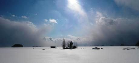 Lake Lestijärvi winter, Central Ostrobothnia province of Western Finland - Keski-Pohjanmaa