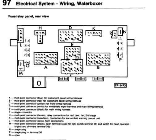 Vanagon Fuse Panel Diagram