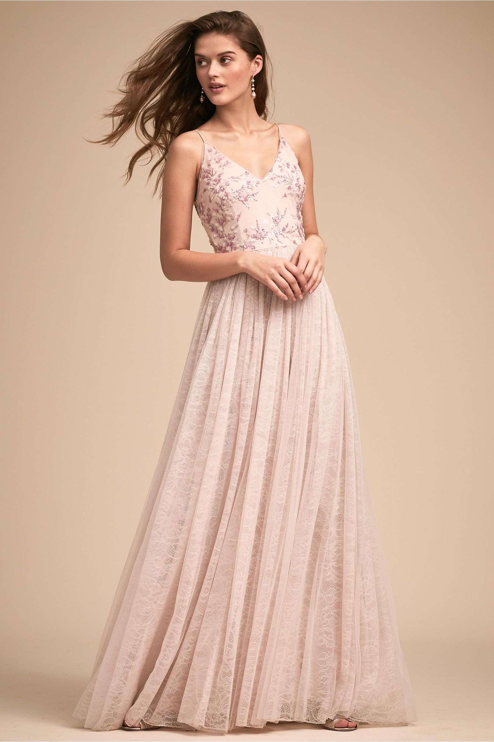 BHLDN Cluny Dress Pink by ADRIANNA PAPELL | affordable colorful ...