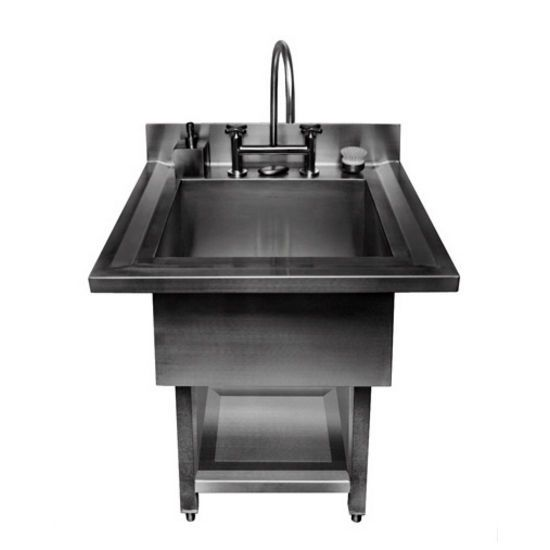 Julien Urbanedge 3865 Pedestal 16 Gauge Stainless Steel Single