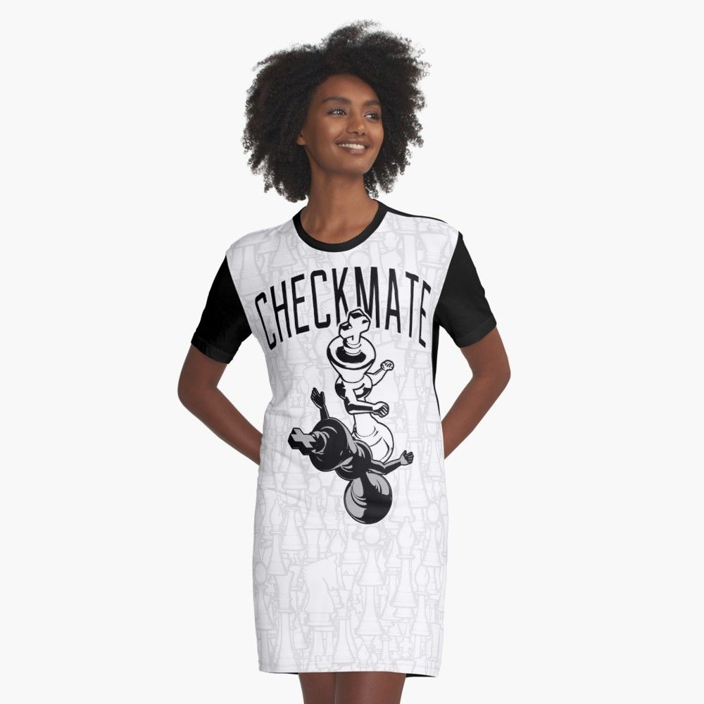 fb251bddf Checkmate Punch Funny Boxing Chess Graphic T-Shirt Dress Front chess, king,  checkmate, knockout, boxing, fighter, fight, punch, boxer, cartoon, game,  ...