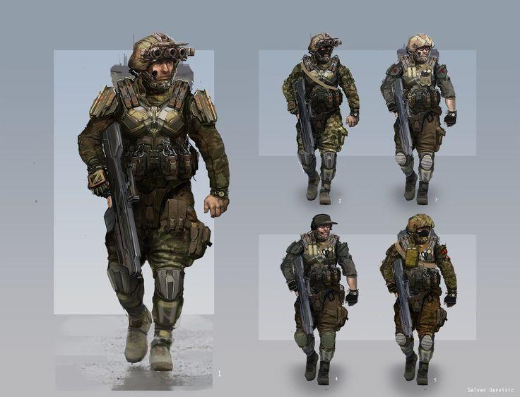 Resultado de imagem para Future Soldiers Concept Art