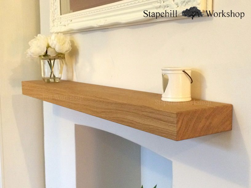 Solid Oak Floating Mantle Shelf Fireplace Mantel Shelves 40mm 40mm Best Light Oak Floating Shelves