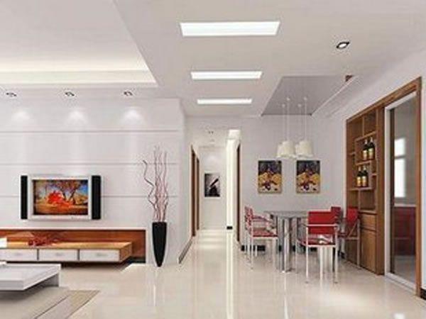 Luminária de embutir LED retangular Baoshida Sanca Forro - Led Einbauleuchten Küche