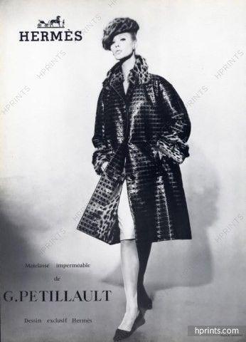 71d5b2968d8 Hermès (Couture) 1965 Photo Robert Laurent, G. Petillault (Fabric) Pierre