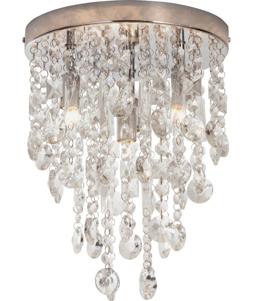 Heart Of House Cristallo 4 Light Ceiling Fitting Chrome At Argos Co