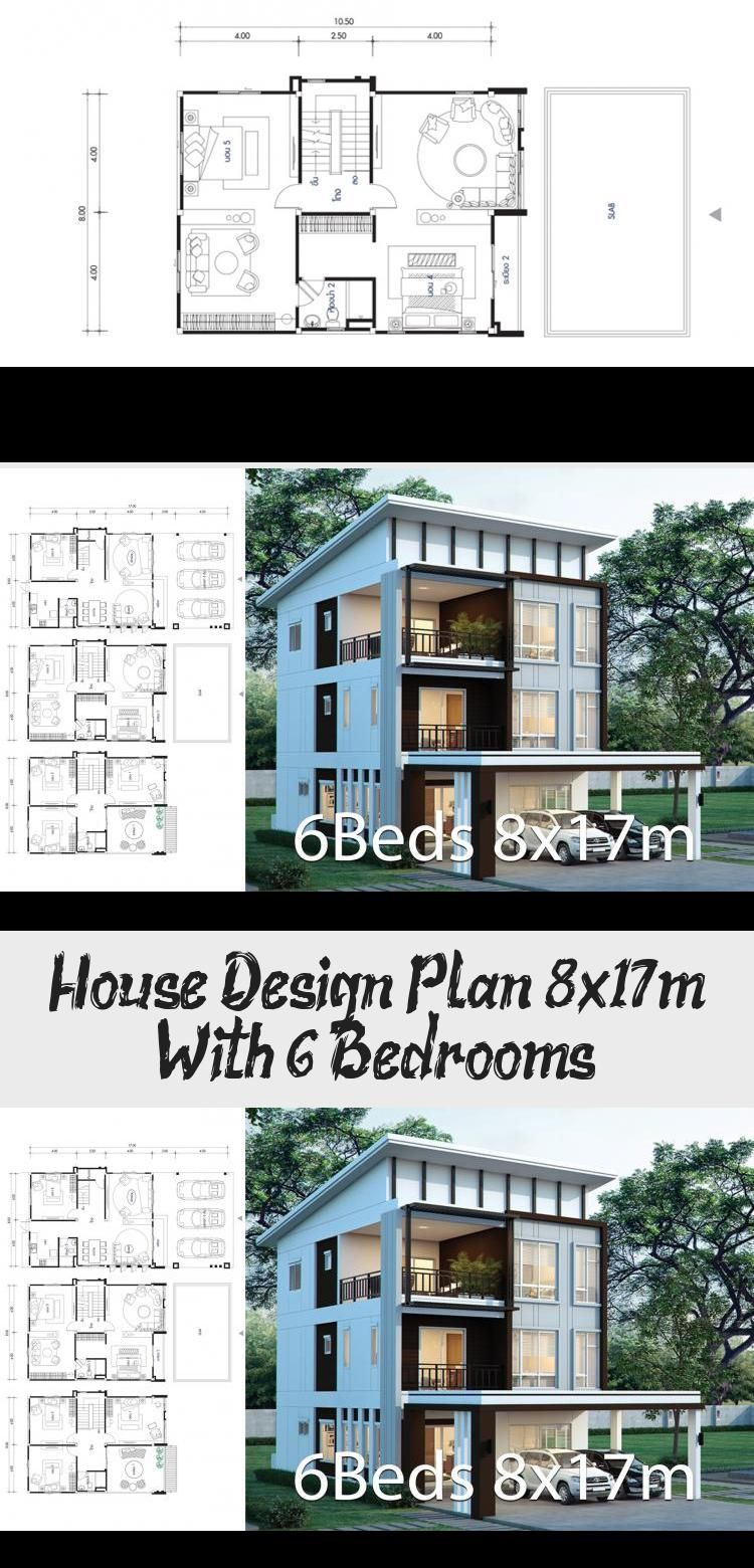 House Design Plan 8x17m With 6 Bedrooms Elsie S Blog In 2020 Home Design Plans House Design Luxury House Designs