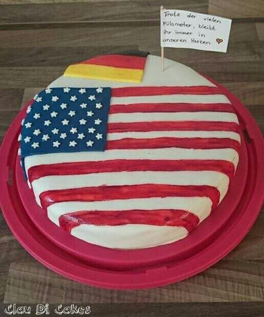 America flag cake