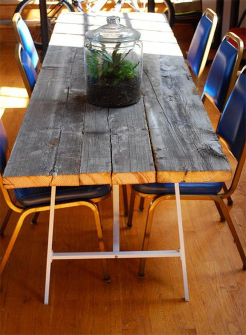 Build Garden Table Yourself Instructions Reclaimed Wood Dining