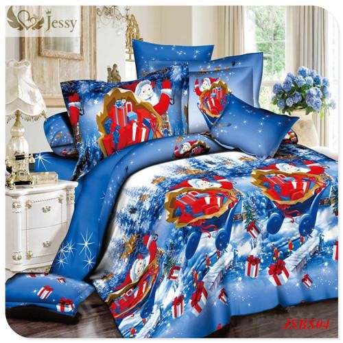 HOT! christmas bedding sets for adult bed linen with fitted sheet