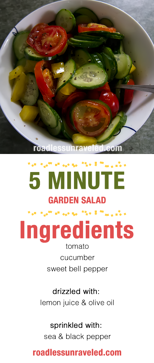Salad That Isn't Boring 5 Minute Garden Salad Recipe