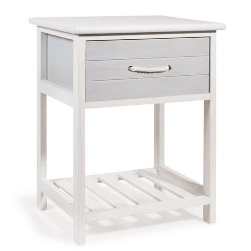Oleron Wooden Side Table In White W 30cm Wooden Side Table Nautical Room Seaside Bedroom