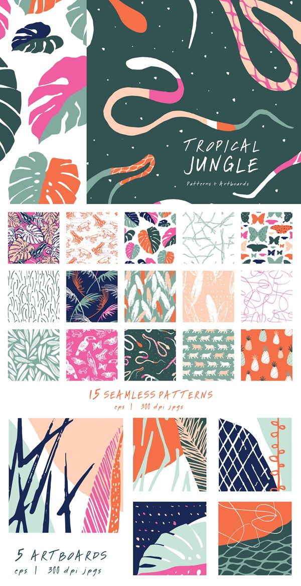 Tropic Jungle Collection #junglepattern