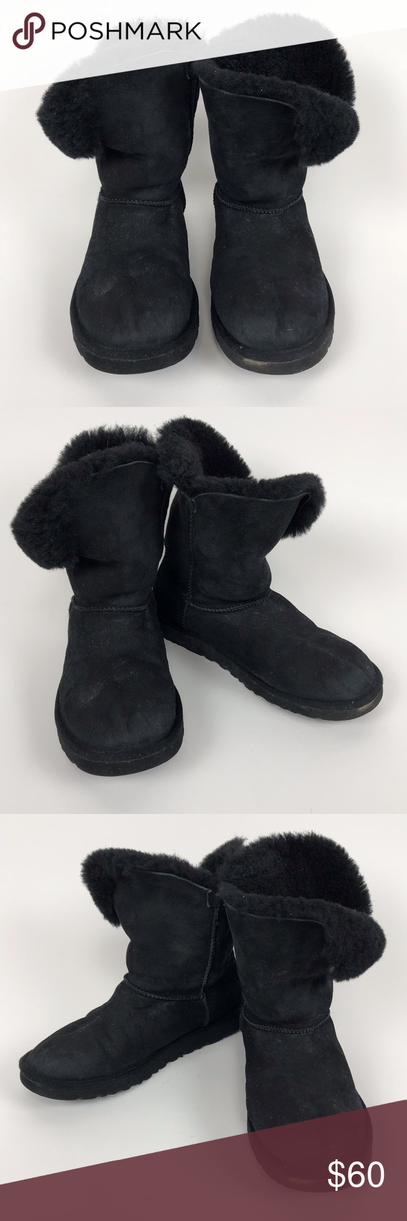 981c2fe4842 UGG Women s Black Bailey Button Boots Size 8 UGG Australia Bailey Button  Black Size 8 Pre-owned  Any signs of wear or defects are shown in images  PM22 UGG ...