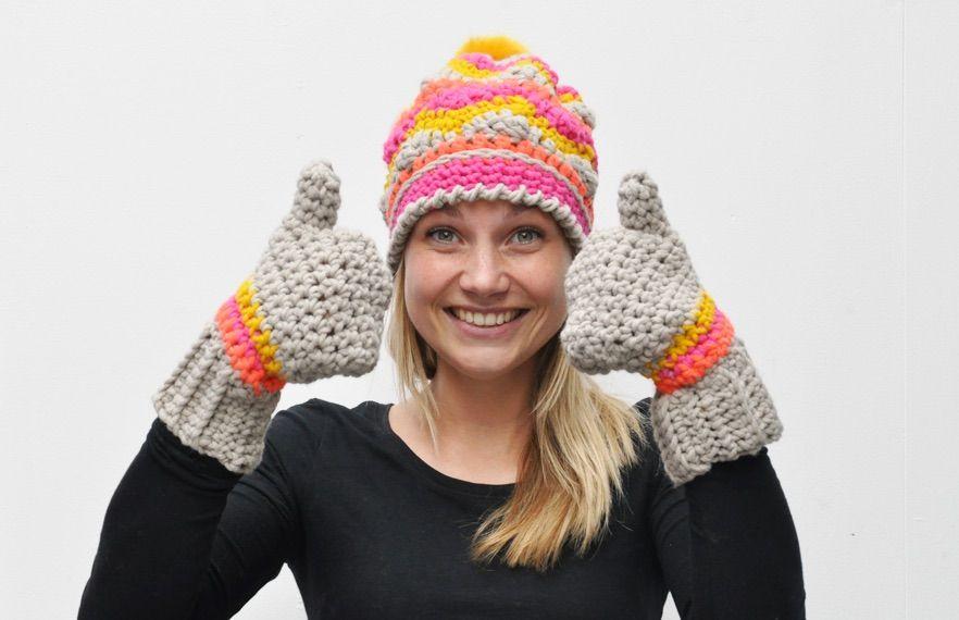 Anleitung-Fäustlinge-und-mütze | Crochet / Häkeln Kinder Baby ...
