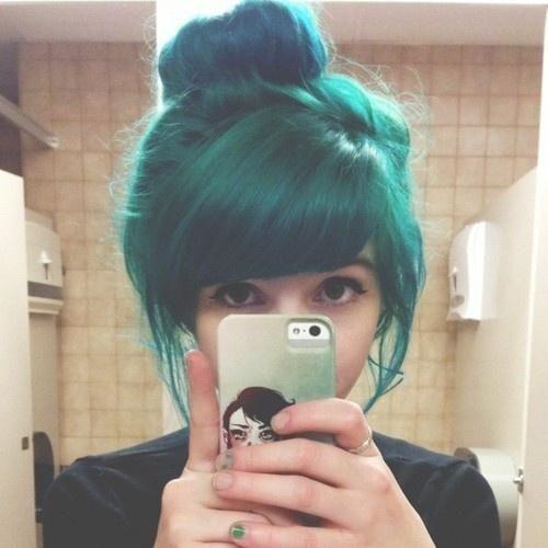 Pin By Rachel Makala On Hairstyles For Long Hair Hair Styles Teal Hair Scene Hair