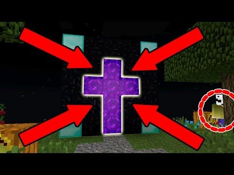 Minecraft How To Make A Portal To Herobrine Minecraft Portal To Herobrine Youtube Minecraft Portal Minecraft Blueprints Minecraft Pocket Edition