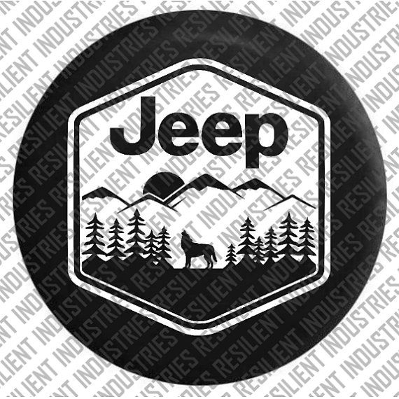 Jeep Spare Tire Cover Jeep Wrangler Wolf By Resilientindustries