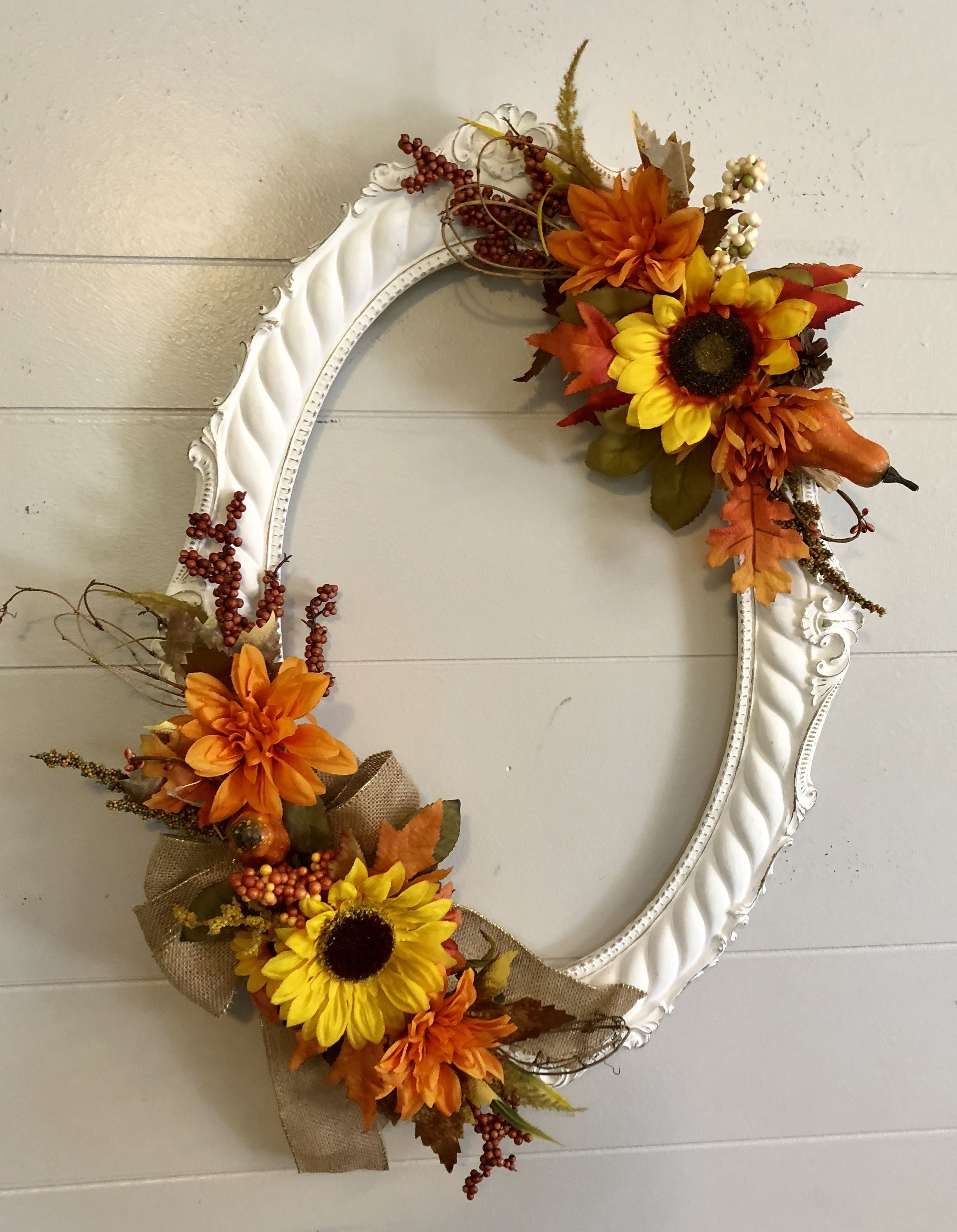 Making fall wreaths out of picture frames!! Follow me on