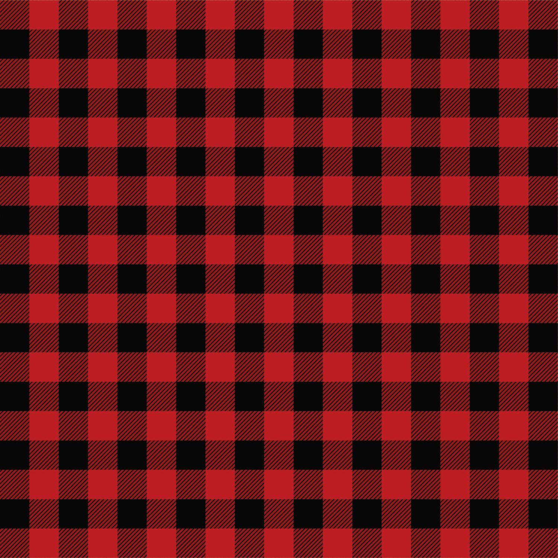 Checkered Wallpaper: Buffalo Plaid Pattern HTV Or Adhesive Vinyl, Red And Black