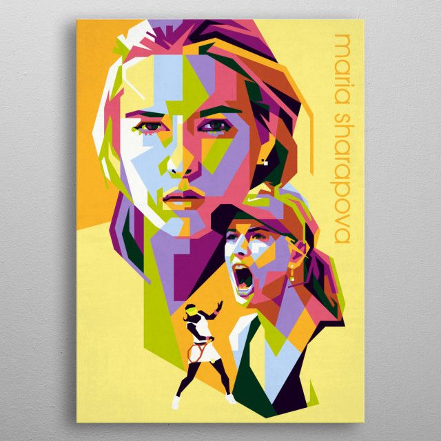 a Russian professional tennis player. A United States resident since 1994, Sharapova has competed… | Displate thumbnail