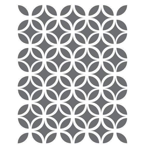 Circle Lattice Stencils Template for Crafting Canvas DIY decor Wall ...