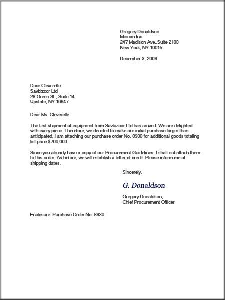Business Letter With Modified Block Format Example Gif  Home