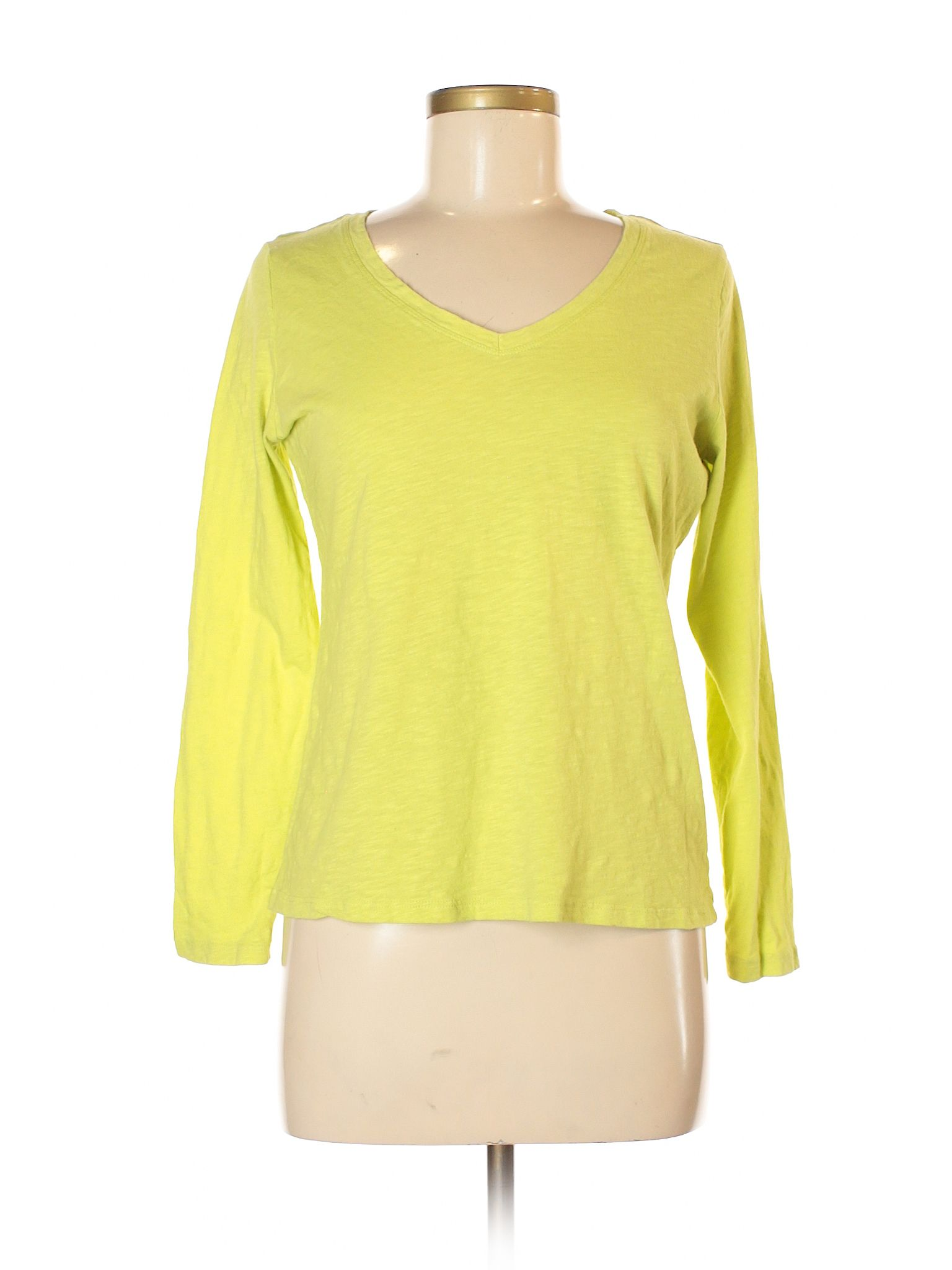 Jcpenney Long Sleeve T Shirt: Size 8.00 Yellow Women\'s Tops - $5.99 ...