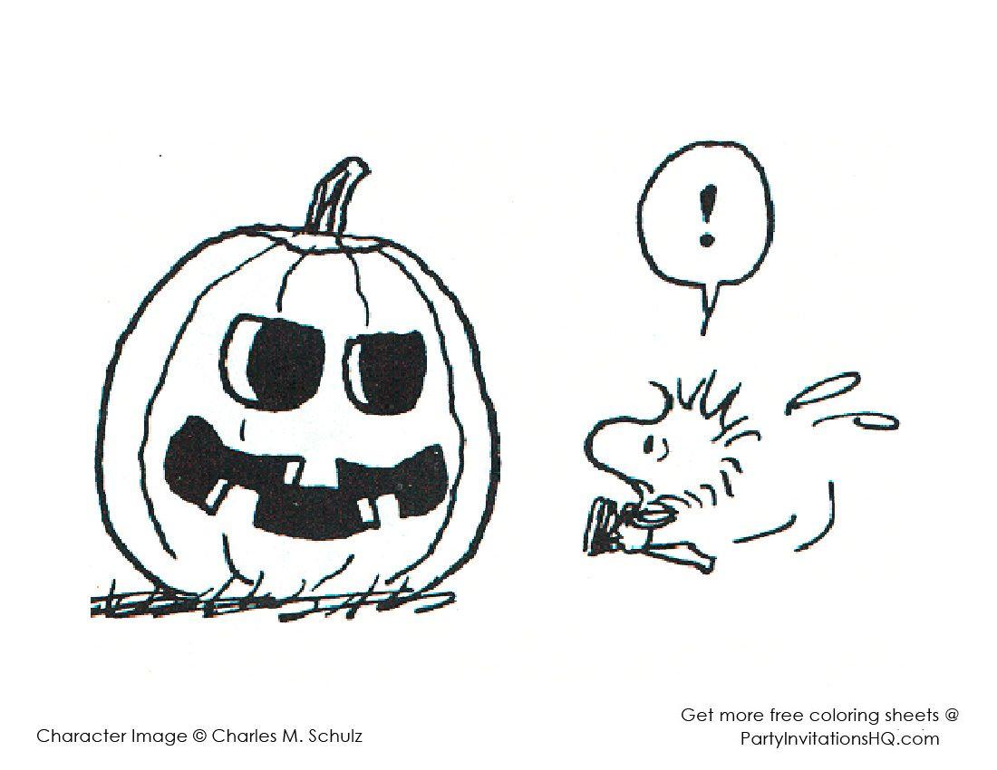 Woodstock Halloween Halloween Coloring Pages Halloween Coloring Snoopy Halloween