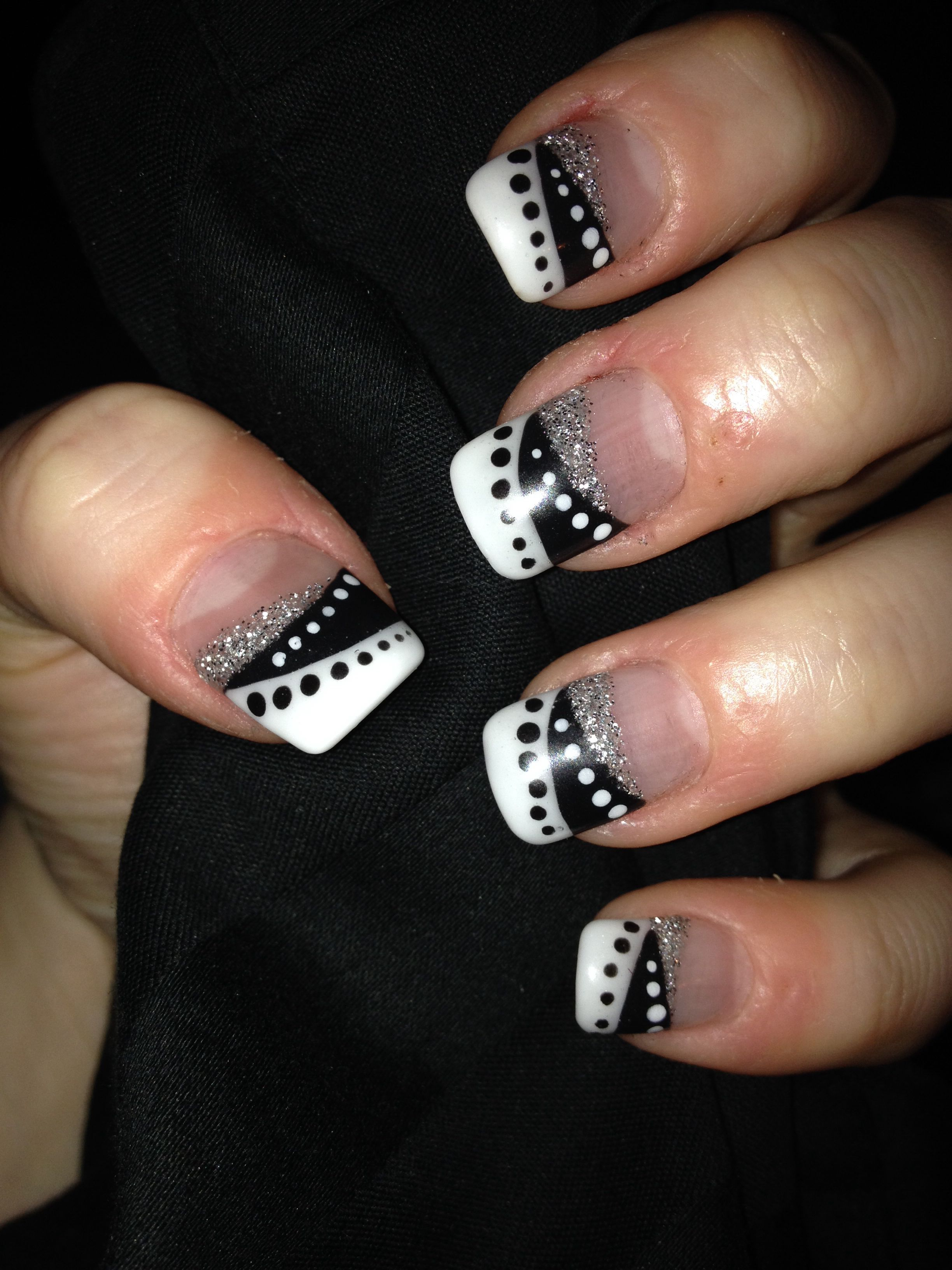 Black And White Wedding Nails Nail And Hair Ideas In 2019