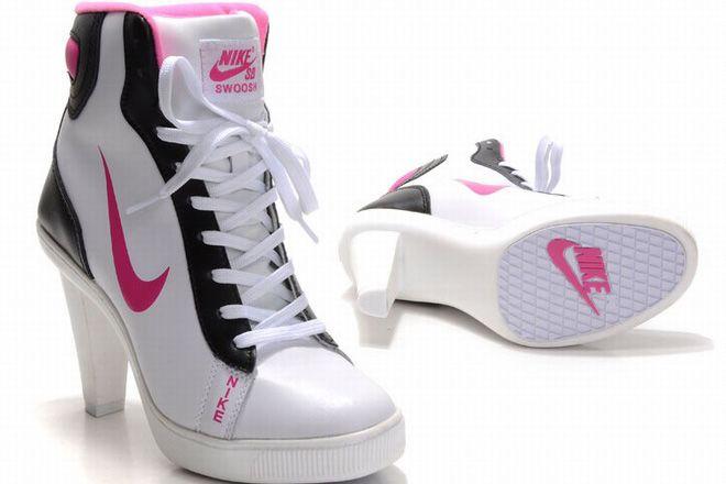 newest 68123 cd0ab nike dunk sb mid heels white pink black women shoes