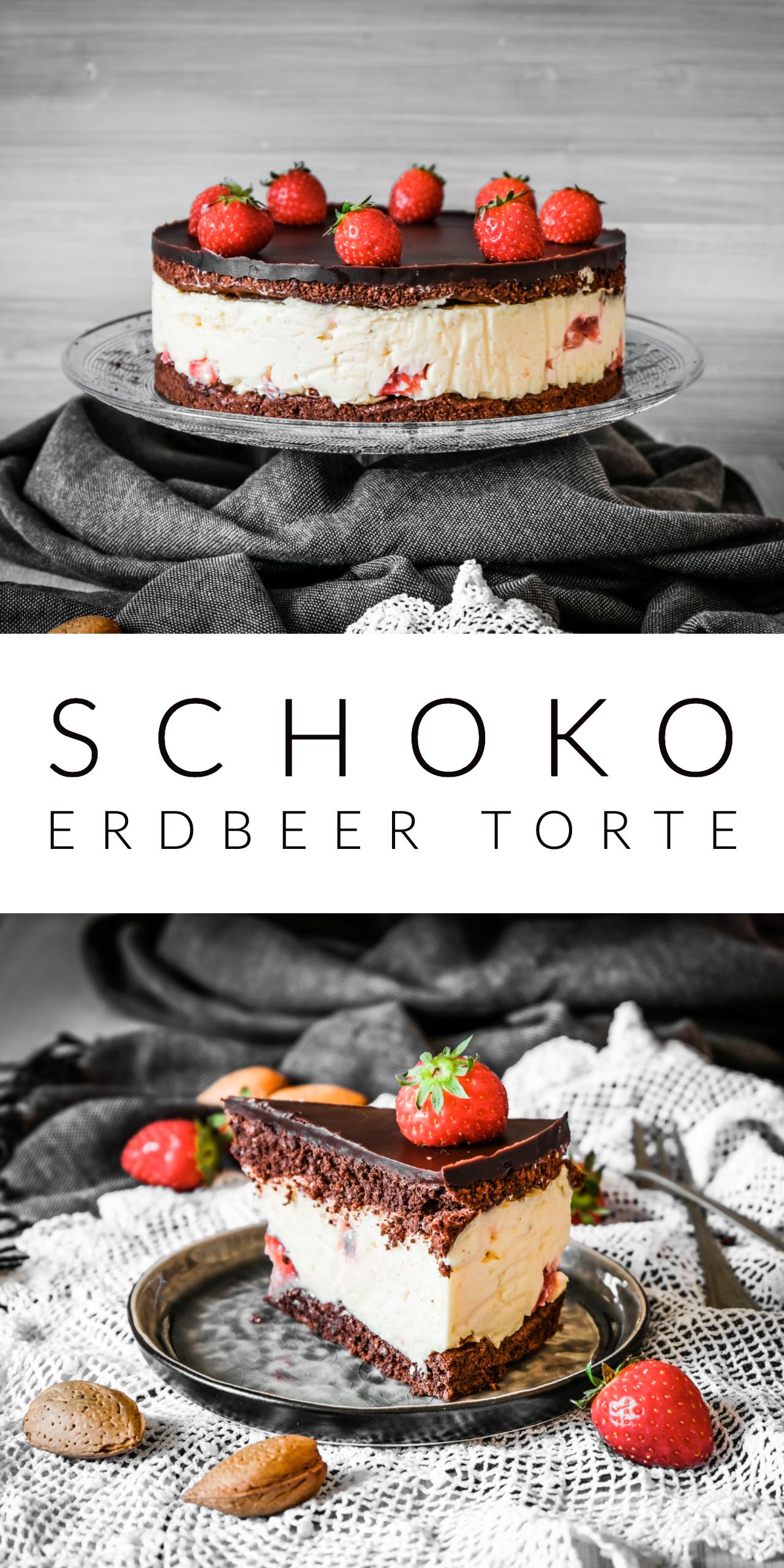 Schoko Erdbeer Torte  #tortenrezepte
