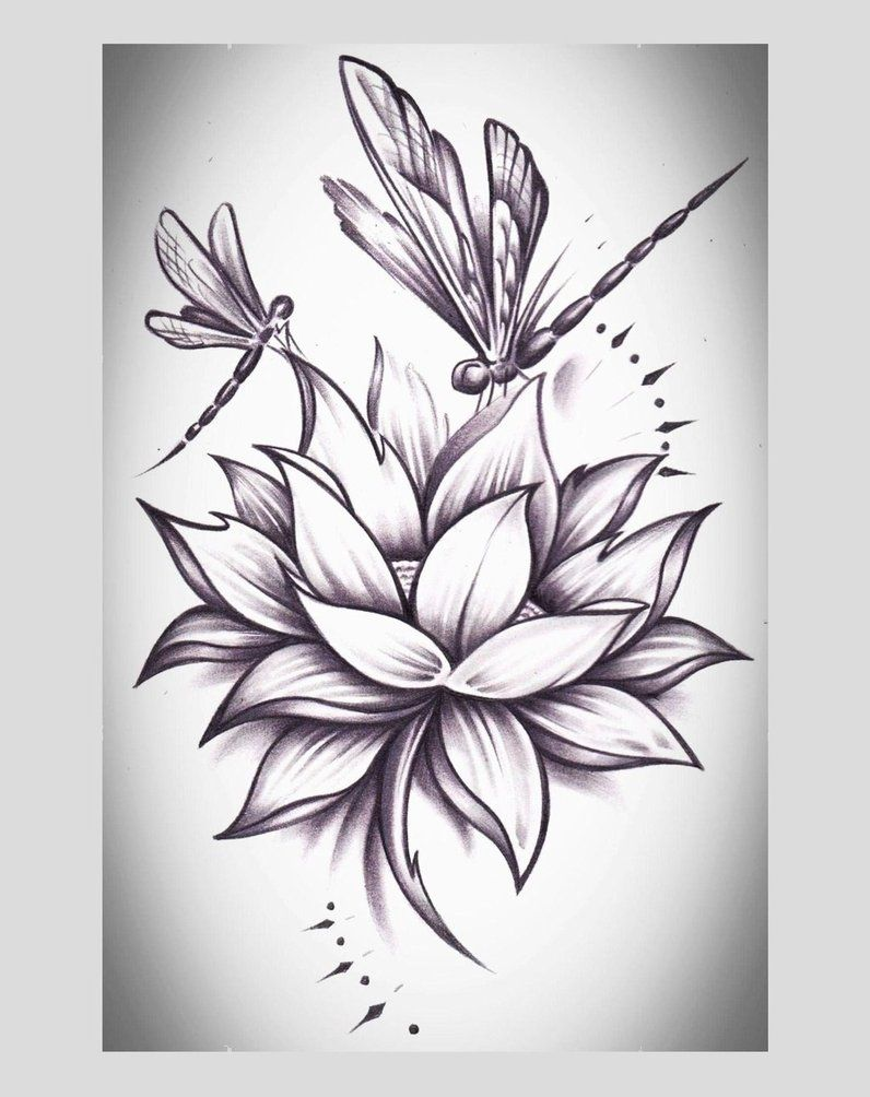 I Would Love To Add Dragonflies Like This To My Lotus #dragon #tattoos #