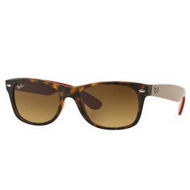 8d4954008e0ea Ray Ban RB2132 New Wayfarer Bicolor sunglasses – Tortoise  Grey Frame    Brown Gradient Lens