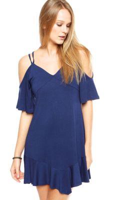 5524afd00 Vestido DAFITI ONTREND Recortes Azul