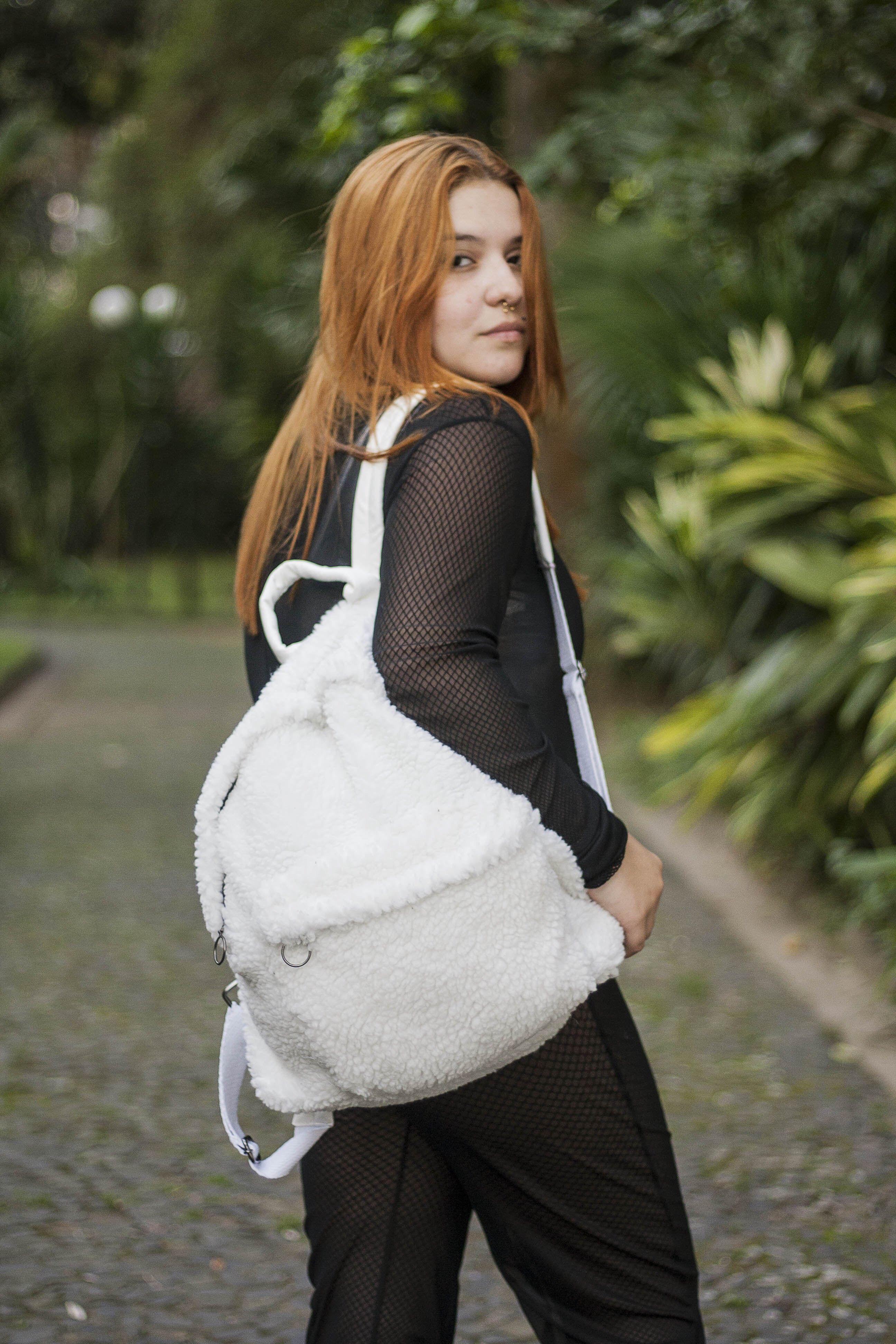 Furry bag bolsa de pelo fur furry moda fashion style trend