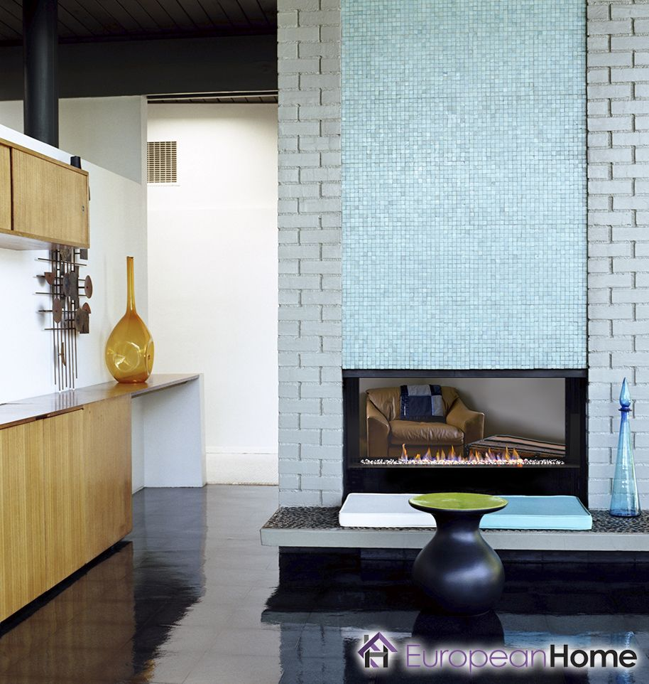 The H Series By European Home Is A Single Sided Natural Gas Fireplace Features A Contemporary Trimless Open Front Styl Fireplace Gas Fireplace
