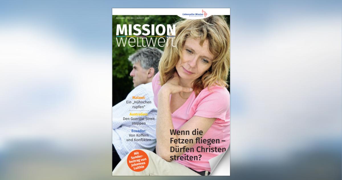 """Die aktuelle Ausgabe unserer Zeitschrift """"Mission weltweit"""
